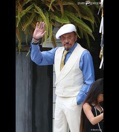 Exclusif : Johnny Hallyday habillé en Gatsby le Magnifique et sa fille Joy nous…
