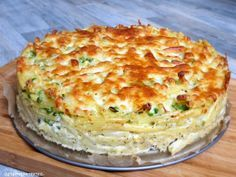 Nudeltorte - Maccheronitorte mit Ricottacreme und Erbsen (Thermomix - Rezepte mit Herz) - Another! Love Food, A Food, Food And Drink, Rigatoni, Pasta Cake, Tasty, Yummy Food, Pampered Chef, How To Cook Pasta