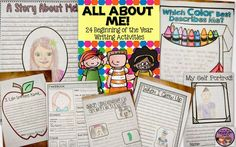 The perfect back to school writing resource for grades 3-6. This packet has 24 different writing activities that will help you get to know your students and their individual personalities and interests.