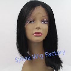 (45.00$)  Watch more here  - Natural look irregular short straight wigs synthetic lace front wig heat resistant exquisite brazilian Synthetic Hair in stock