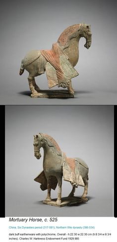 From the Cleveland Museum of Art - Mortuary Horse, Chinese Six Dynasties Period