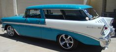 56 Chevy Nomad! - any of the Chevys from the mid to late 50s are iconic, but I love the two-tone nomads