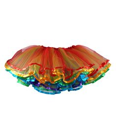 Look at this Ella's Tutus Red & Orange Clown Party Tutu on #zulily today!