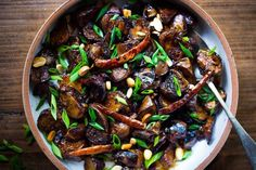 Chinese Eggplant with Garlic Sauce I Spicy szechuan eggplant I sweet and sour eggplant Easy Vegan Dinner, Vegan Dinner Recipes, Vegan Dinners, Chinese Eggplant Recipes, Eggplant With Garlic Sauce, Mac Recipe, Chinese Cooking Wine, Vegetable Side Dishes, Serving Dishes