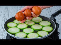 Csodás dolgot készítek egy cukkiniből és 3 tojásból! - YouTube Zucchini, Cucumber, The Creator, Vegetables, Youtube, Food, Cooking Recipes, Entrees, Eggs