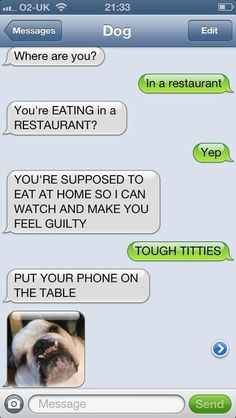 Texts from dog.