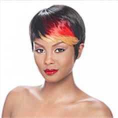 Wigs 2  HAIRJOY  Hot Item  Black and Red  Straight  Short  Wig  Woman  Fashion Synthetic Hair Wig Party Wigs -- AliExpress Affiliate's Pin. Details on product can be viewed by clicking the image