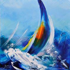 Nautical Painting, Sailboat Painting, Sailboat Art, Sailboats, Palette Art, Pour Painting, Beach Art, Art World, Art Pictures