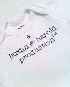 Here's fun one; A Parent Production. This is the perfect shower gift if the parent