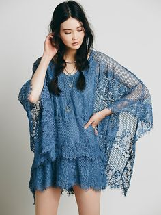 Free People Poncho Mini Dress at Free People Clothing Boutique