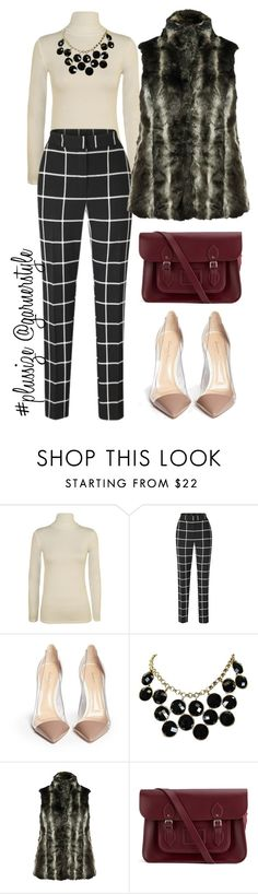 """Work!"" by garnerstyle ❤ liked on Polyvore featuring WearAll, Gianvito Rossi, Kate Spade, M&Co and The Cambridge Satchel Company"