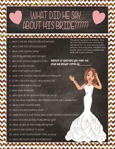 Fun Bridal Shower Game