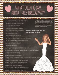 Fun Bridal Shower Game