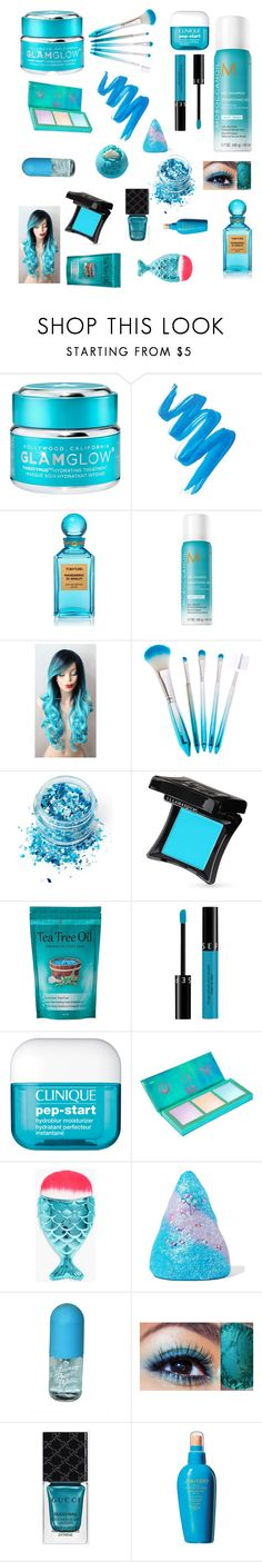 """""""Got the blues"""" by future-infashion ❤ liked on Polyvore featuring beauty, GlamGlow, L.A. Girl, Tom Ford, In Your Dreams, Illamasqua, Sephora Collection, Clinique, Lime Crime and Boohoo"""