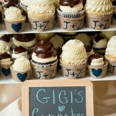 Check Out These Adorable Customized Burlap Wedding Cupcakes For Gigis AtlantaPWGShows