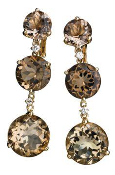 Cassandra Goad Triple Rivière earrings
