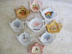 Vintage Porcelain Tea Bag Holder by FabulousResurrection on Etsy, $28.00