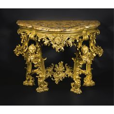 An Italian Baroque Giltwood Console Table, Florence, Third Quarter 18th Century.