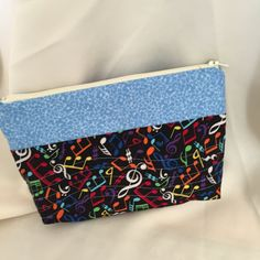 Music Themed Cosmetic/Make Up Bag by MommyMaryCrafts on Etsy