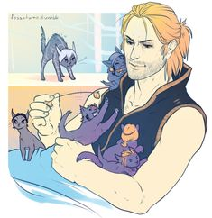 Anders and the kitty cast