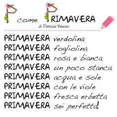 P come PRIMAVERA! Words, Pin Pin, Santa, Spring, Horse