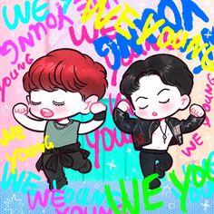 Sehun and cy Cartoon Park, Exo Cartoon, Park Chanyeol, Sehun, 5 Years With Exo, Exo Anime, Exo Fan Art, Wattpad, Exo Memes