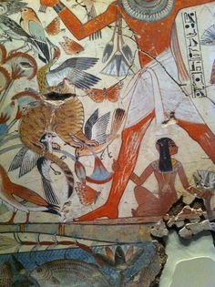 Egyptian art, detail from a fragment housed in the British Museum, the tomb of Neb Amun.