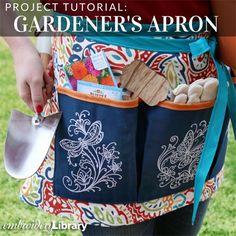 Gardeners Apron  (PR1355) from www.Emblibrary.com