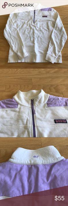 Vineyard Vines Shep Shirt Purple and cream vineyard vines shep shirt. Excellent condition, NWOT Vineyard Vines Tops
