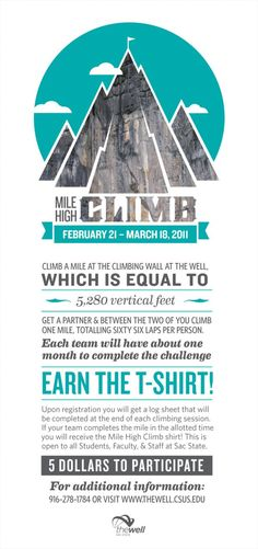 Mile High Climb Poster