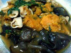 Spicy mixed vegetable soup  # Pumpkin,Fungus,Mushroom,Basil,Correspondents,Shrimp paste,Pepper