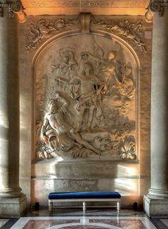 Vestíbulo de la capilla de Versalles.