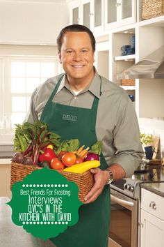Interview with David Venable of QVCs In the Kitchen with David Healthy Salad Recipes, Gourmet Recipes, Hidden Valley Recipes, David Best, David Venable, Broccoli And Potatoes, My Favorite Food, Favorite Things, Qvc Shopping