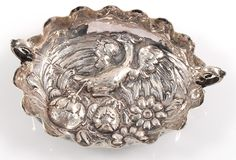 Historismus Henkelschälchen aus Silber