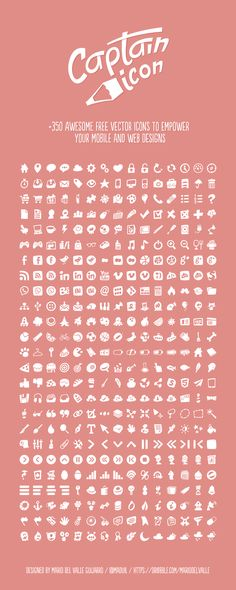 Captain Icon +350 free vector icons