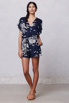 Napili Romper #anthropologie... if I could pull off Rompers.. soo cute! Retails 148.00$