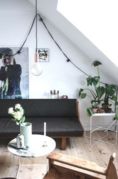 The lovely, relaxed home of a Danish student