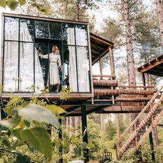 Cabins In The Woods, House In The Woods, Places To Travel, Places To See, House On Stilts, Farm Cottage, Forest House, Next Holiday, Weekend Trips