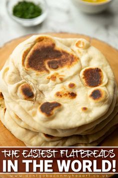 These homemade flatbreads are quick, easy and only require 3 main ingredients. No yeast required! | www.dontgobaconmyheart.co.uk Cheesy Recipes, Mexican Food Recipes, Amazing Food Videos, Homemade Flatbreads, Twisted Recipes, Cooking Recipes, Bread Recipes, Vegan, Love Food