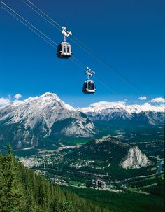 Cable cars, Banff, Alberta