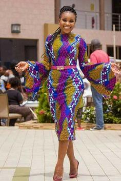 Berla Mundi in african prints, African fashion, Ankara, kitenge, African women dresses. Cute without bell sleeves