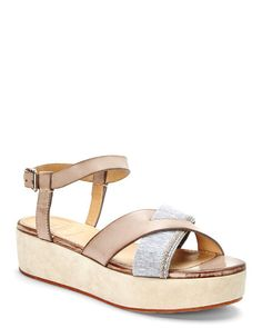 BRUNELLO CUCINELLI Taupe Platform Sandals