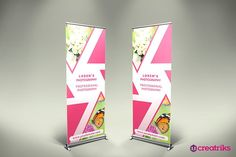 Photography Roll Up Banner - v061  @creativework247