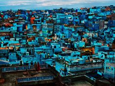 blue city india by steve mc curry