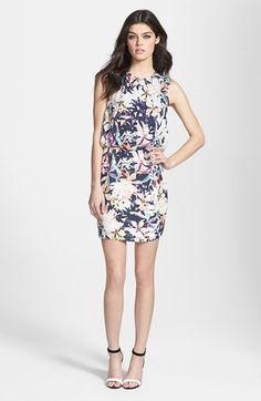Dolce Vita Back Inset Print Silk Blouson Dress   Nordstrom