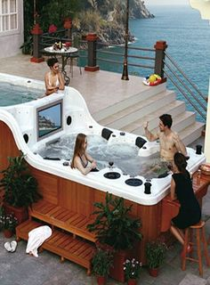 1000+ images about Hot tub on Pinterest | Hot Tubs, Indoor Hot Tubs
