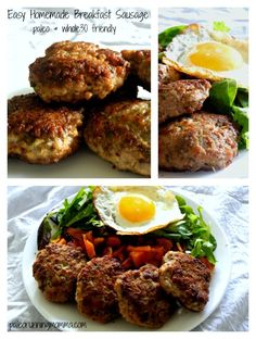 Easy Homemade Breakfast Sausage made with just organic pork and the perfect savory spice blend - paleo and friendly. Paleo Breakfast Casserole, Homemade Breakfast Sausage, Breakfast Meat, Whole 30 Breakfast, Breakfast Recipes, Breakfast Time, Free Breakfast, Breakfast Dishes, Paleo Recipes