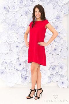 Sukienka Lila Czerwona www.princesca.pl