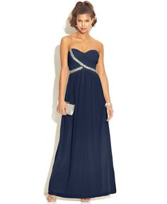 b5fb49368ec City Studio Juniors  Strapless Sweetheart Dress   Reviews - Dresses -  Juniors - Macy s