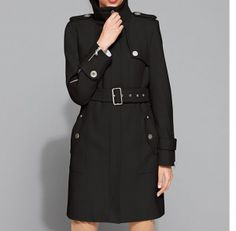 Kenneth Cole Reaction Coat, Stand Collar Classic Wool Blend Trench (3 Colors) at Macy's